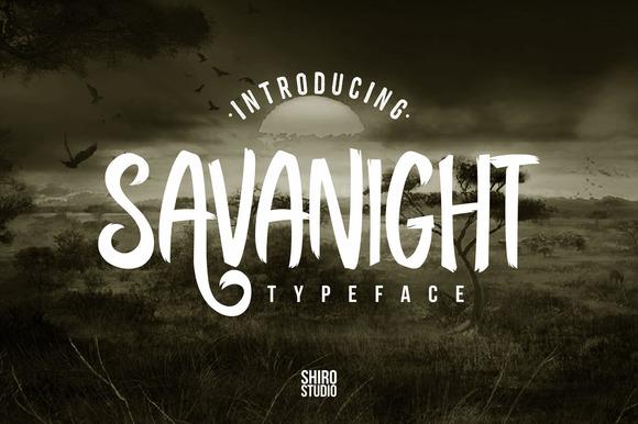 Savanight Typeface