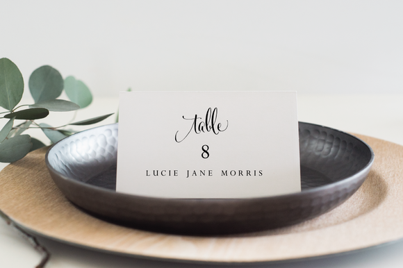 Wedding Place Cards Editable PDF