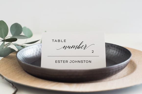 Wedding Place Card Editable PDF