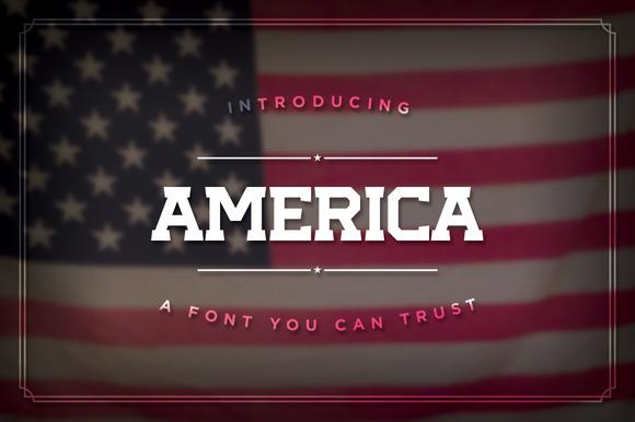 America The Font