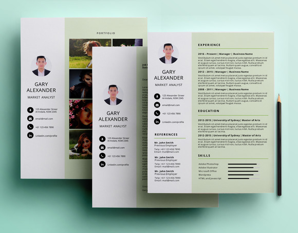 Simple PowerPoint Resume Pack
