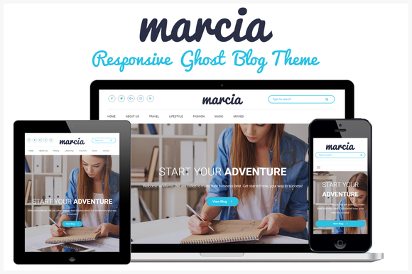 Marcia Responsive Ghost Blog Theme