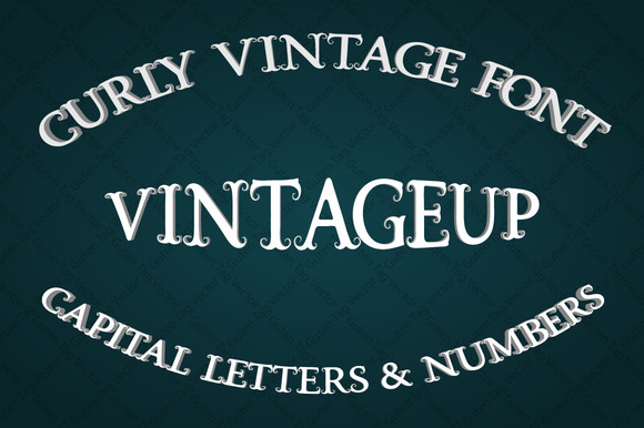 Vintage Font With Curls