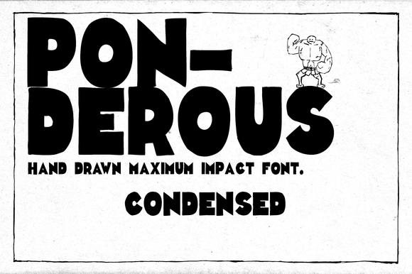 Ponderous Condensed