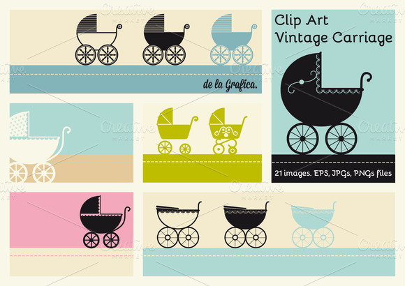 21 Clip Art Vintage Carriage