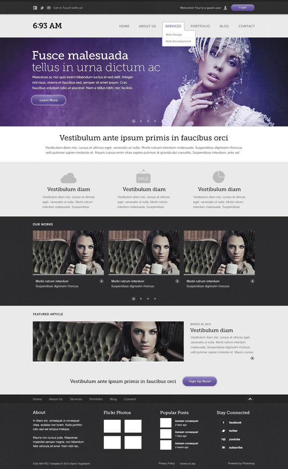 6 93 AM Website Template