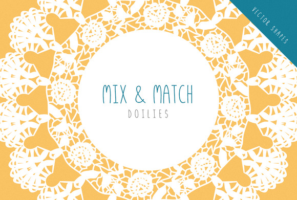 Doilies Vector Mix Match Set