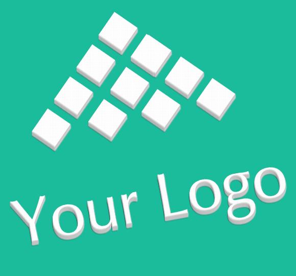 Logo Mock-ups Flat Design Style