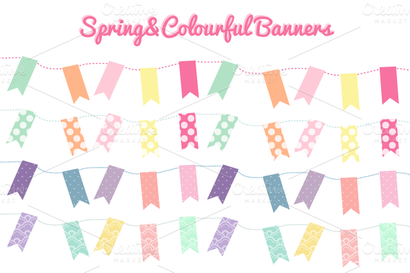 Lovely Colourful Bunting Banners