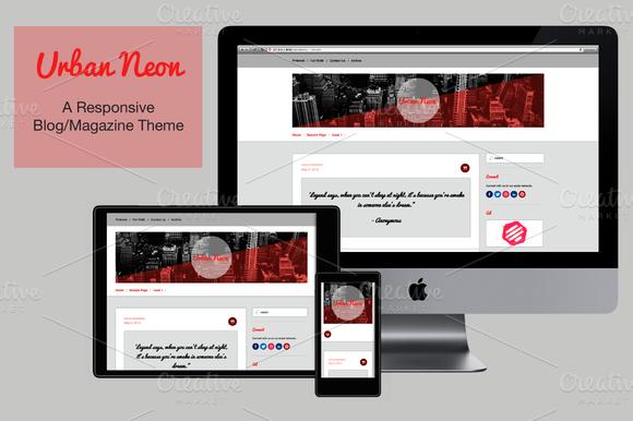 UrbanNeon V1.0 WordPress Theme
