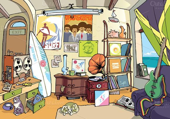 Surfer S Room