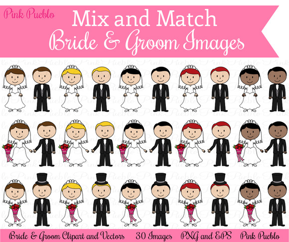 Mix Match Bride Groom Images