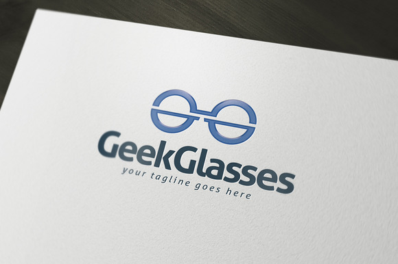 Geek Glasses Logo Template