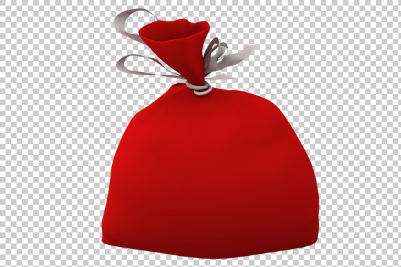 Santa Bag 3D Render PNG