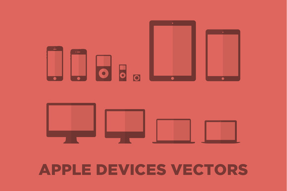 Minimalist Apple Devices Vectors