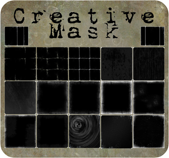 Black Mask Fine Art Textures