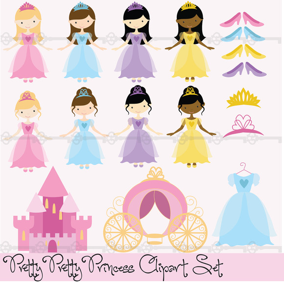 Pretty Princesses Digital Clip Art