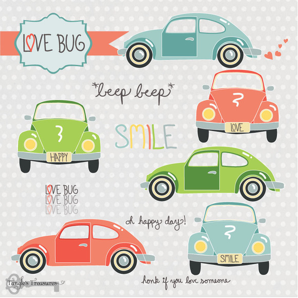 Love Bugs Clipart Set