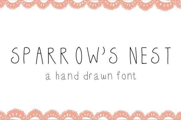 Sparrow S Nest Font
