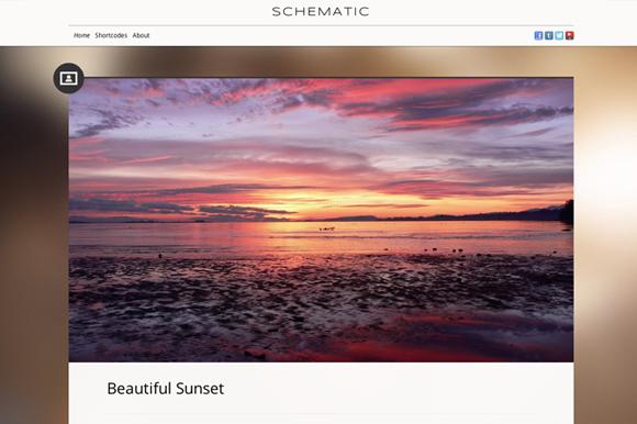 Schematic Tumblog Wordpress Theme