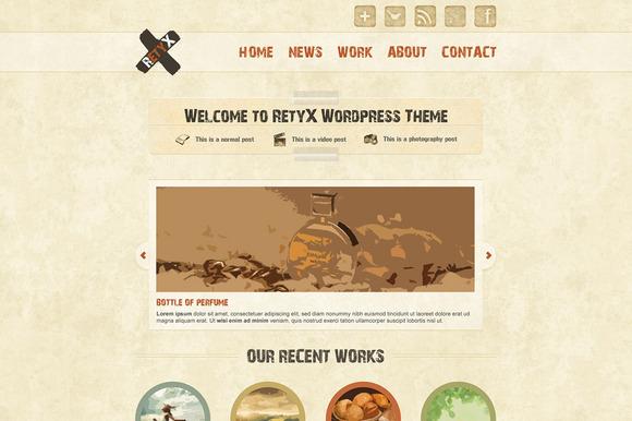 RetyX A Creative Retro PSD Theme