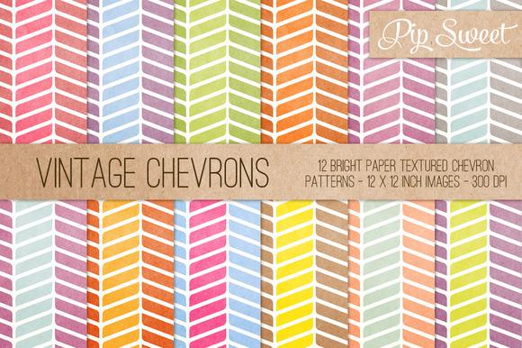 Vintage Chevrons 12 Pattern Set