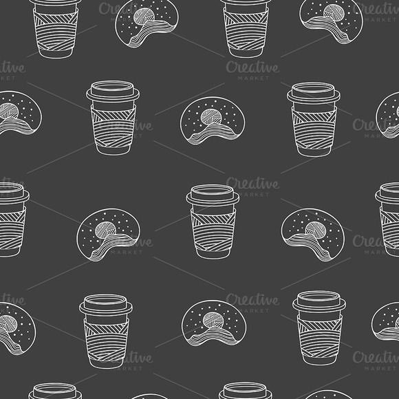 Coffee And Donuts Pattern