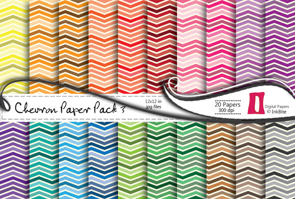 Chevron 3 Digital Paper Pack