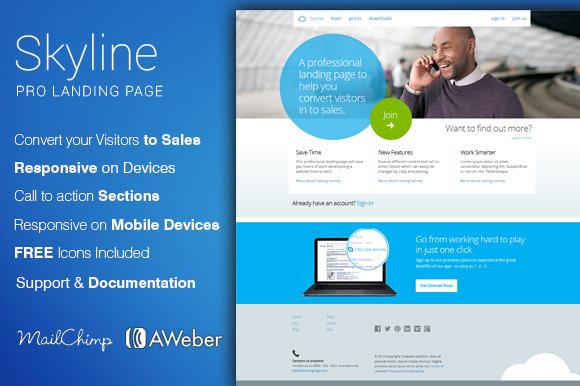 Skyline Corporate Landing Page