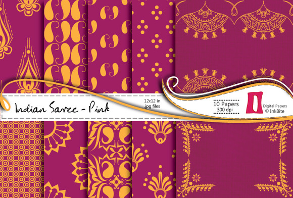Indian Saree Paper Pack Pink