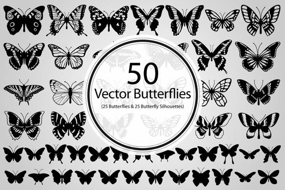 50 Butterflies
