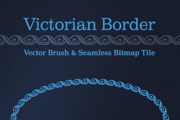 Victorian Border Vector Bitmap
