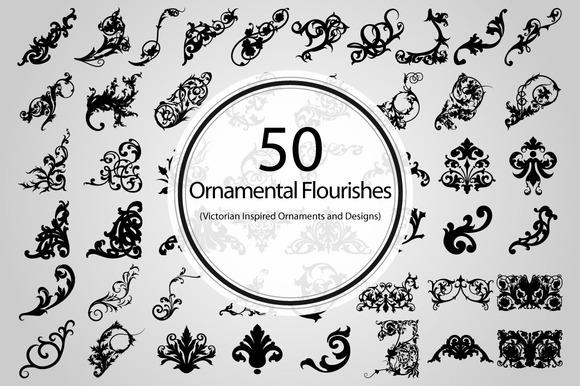 50 Ornamental Flourishes