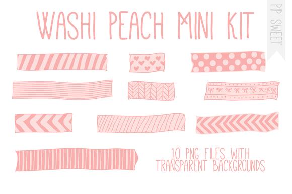 Washi Peach Mini Kit