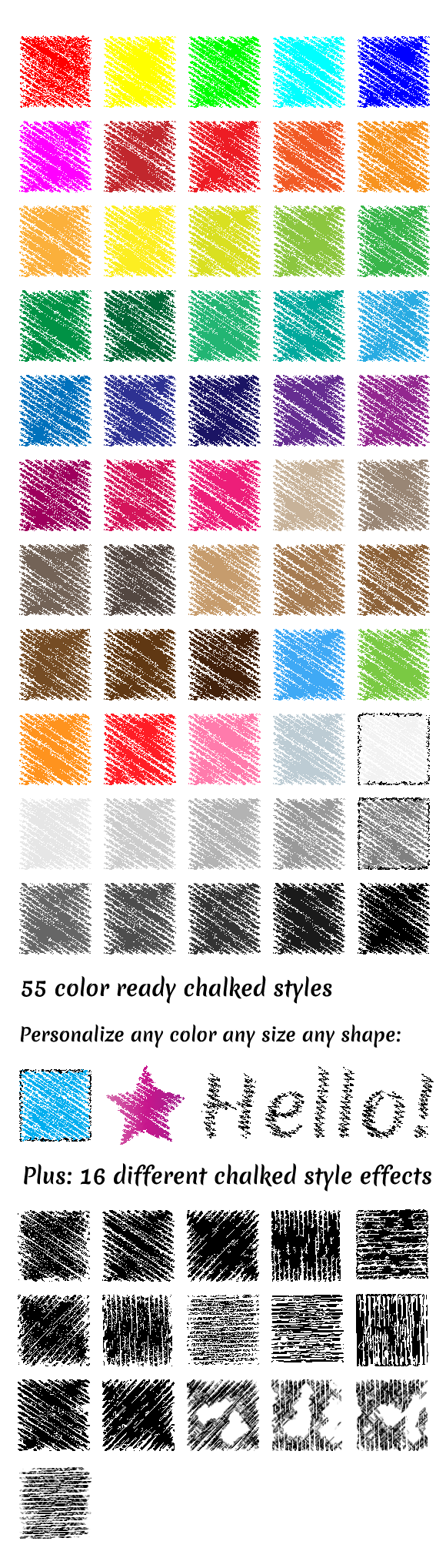 Vector Chalked Styles Illustrator