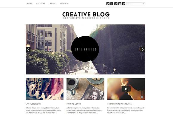 Creative Blog WordPress Responsive