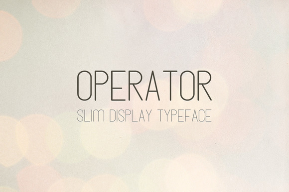 Operator Slim Display Font