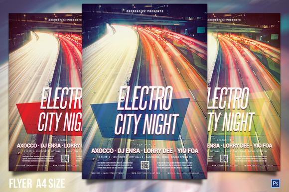 Electro City Night Flyer