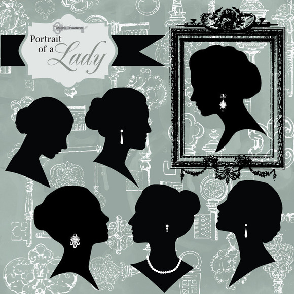 Portrait Of A Lady Digital Clipart