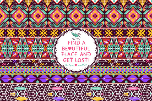 Hipster Seamless Tribal Pattern