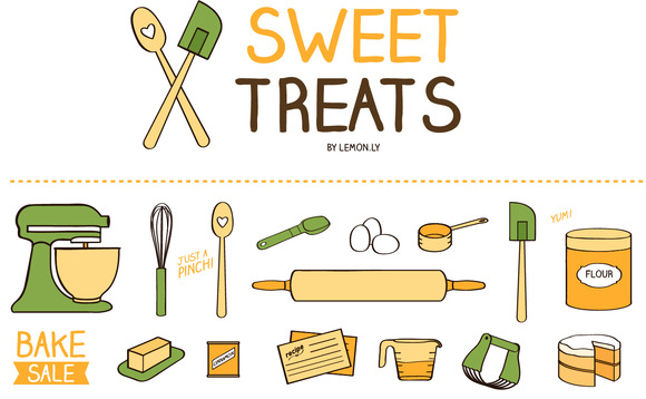 Sweet Treats Baking Kitchen Icons