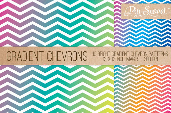 Gradient Chevron 10 Patterns