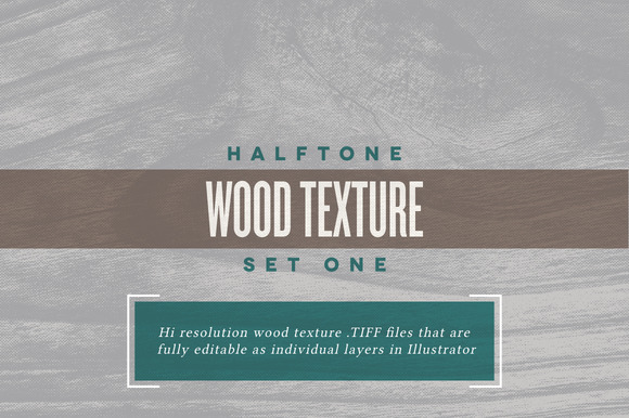 Halftone Wood Textures Set One