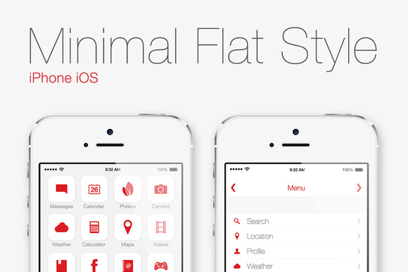 Flat Style IPhone IOS