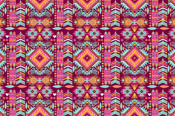 Seamles Aztec Geometric Pattern