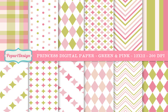 Princess Digital Paper Background
