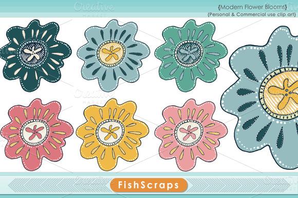 Modern Flower Bloom Clip Art