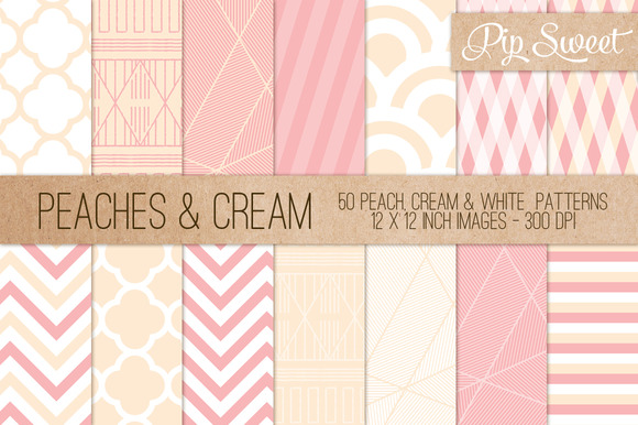Peaches Cream 50 Pattern Set