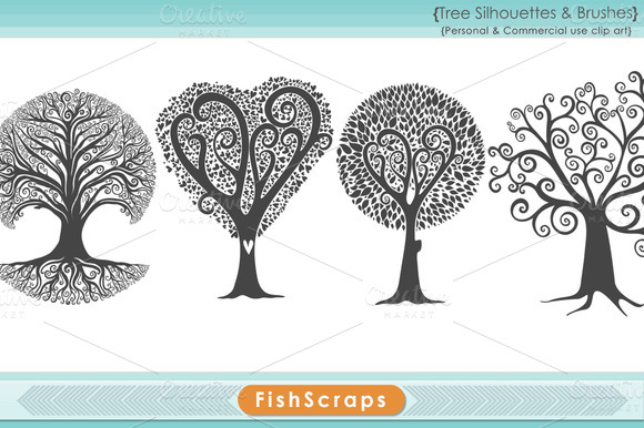 Tree Clip Art Tree Silhouettes