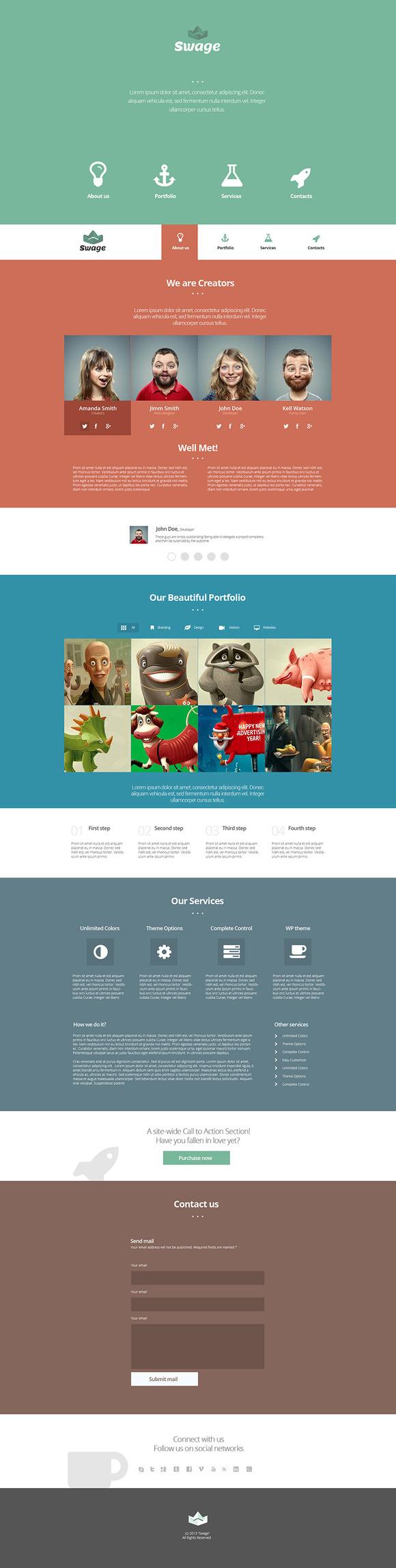 Swage Portfolio HTML5 CSS3